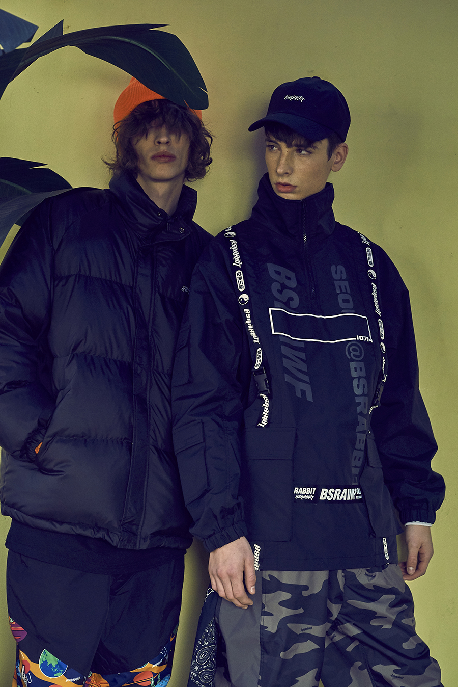 비에스래빗(BSRABBIT) BSR DUCK DOWN PARKA BLACK
